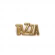 Plaqueta Tazza - Metal zamac com rebite para aplicação em jeans, bolsas e carteiras