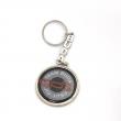 Chaveiro - Metal zamac com adesivo mais resina transparente e corrente personalizada com argola. Banho níquel