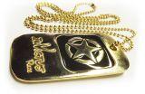 Medalha em metal com banho e resina colorida
