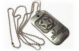 Medalha em metal com banho envelhecido
